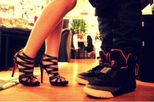 sneakers and heels