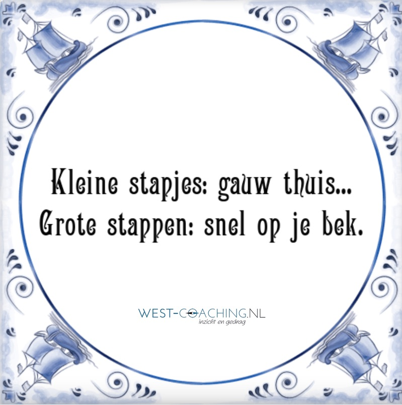 West-coaching_Kleine stappen gauw thuis Grote stappen